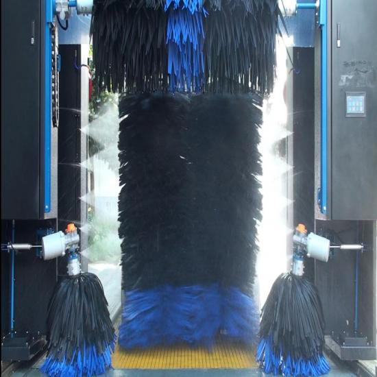 five brushes fully automatic rollover car wash machine With spray foam and wax dry systems CW580