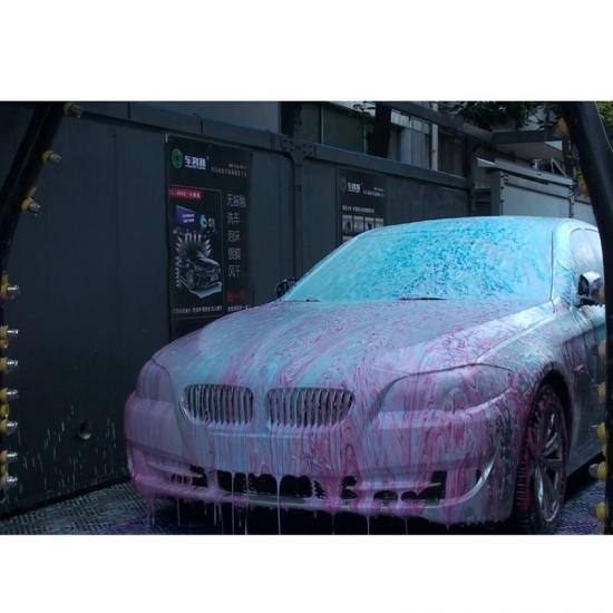 Touchless Automatic Car Wash Machine with High Pressure Water Flushing foam and shampoo function